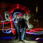 Light Painting created by members of the Creartys group in Kuwait