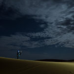 LIGHTPAINTERSUNITED #3 MERZOUGA MEETING 2018. Foto: Frodo DKL (Children of Darklight). Model: Patry Diez.