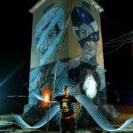 LIGHTPAINTERSUNITED #3 MERZOUGA MEETING 2018. Photo: Frodo DKL (Children of Darklight). Model: Sfhir. Lightpainters: Frodo DKL & Patry Diez
