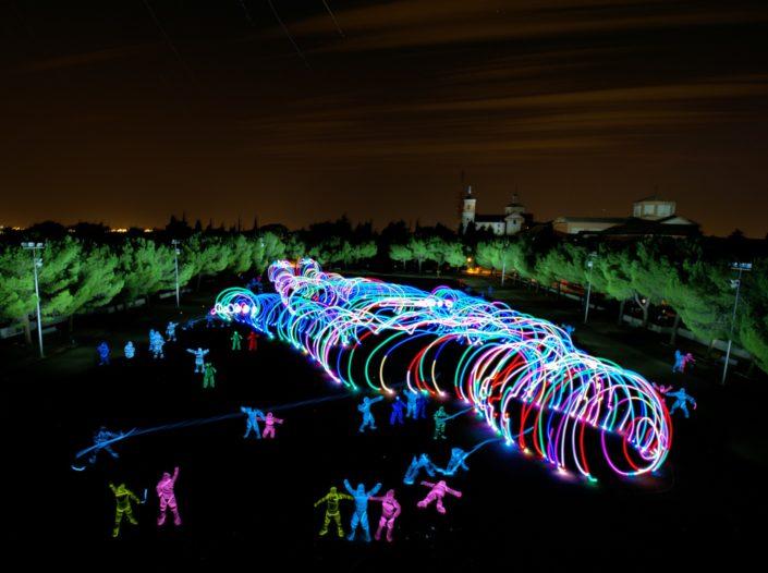 Works Light Art Light Painting Children of Darklight DKL