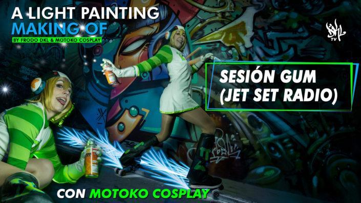 Sesión Light Painting GUM con MOTOKO COSPLAY